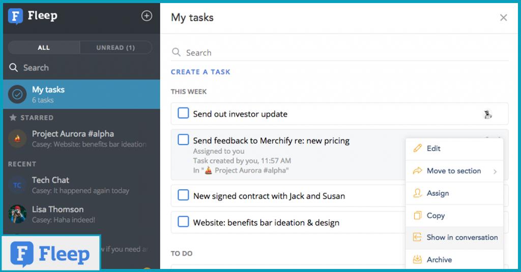 Fleep-review-tasks-window