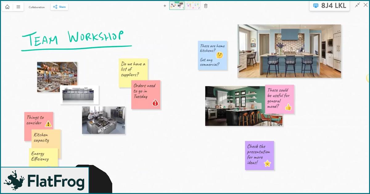 Flatfrog virtual team workshop