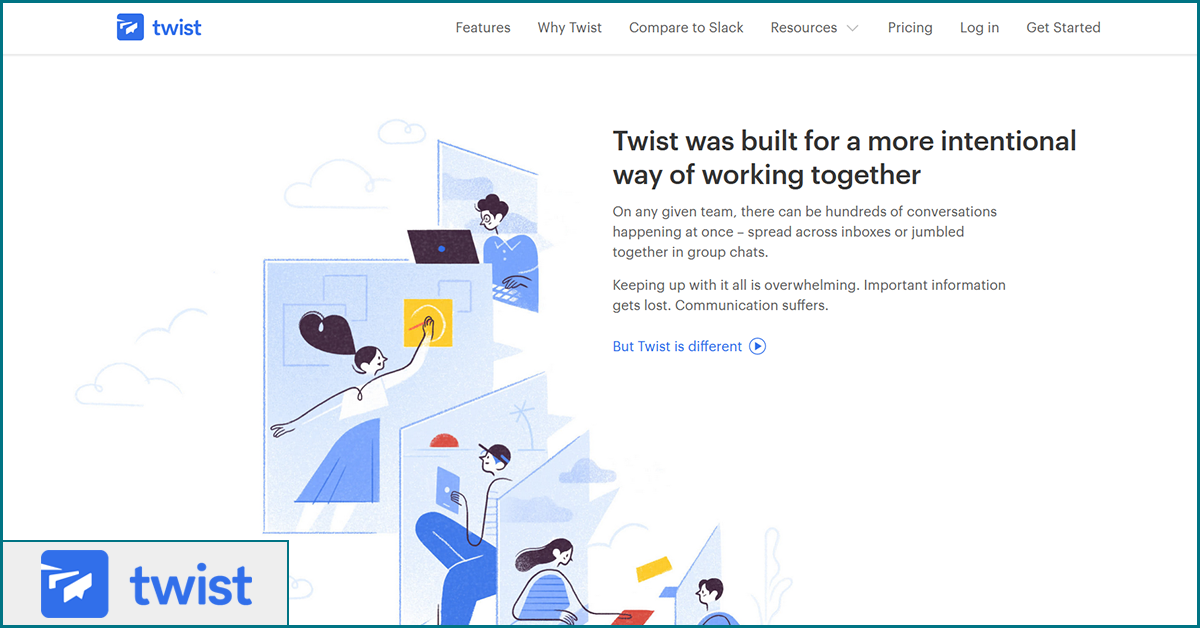 Twist free remote team management tools
