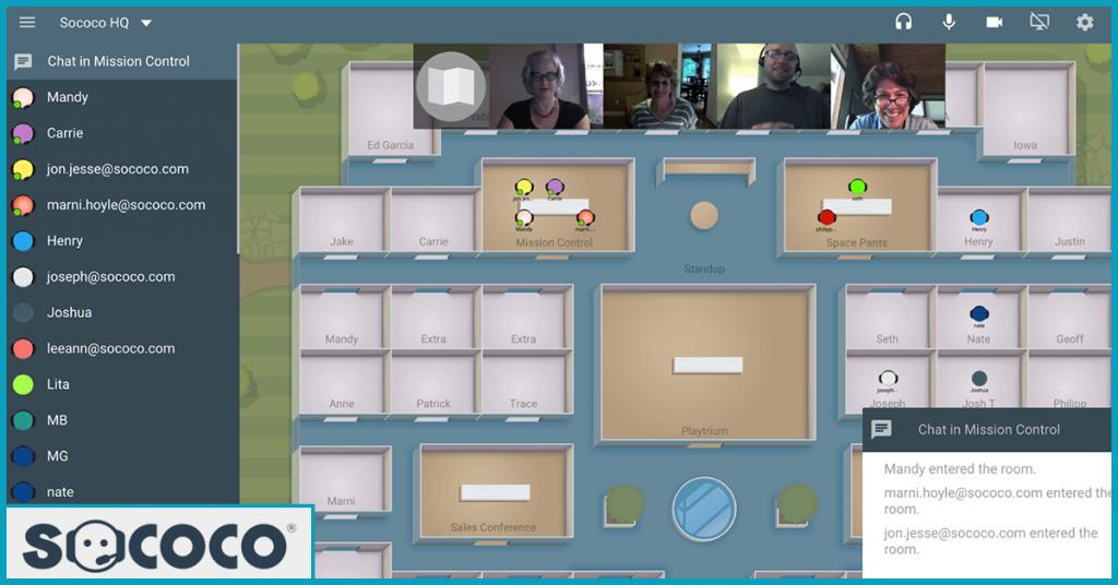 Sococo Virtual Chatroom View