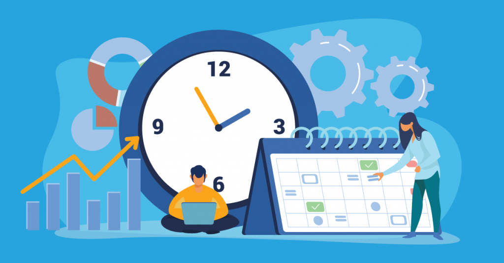 Employees tracking efforts against the clock