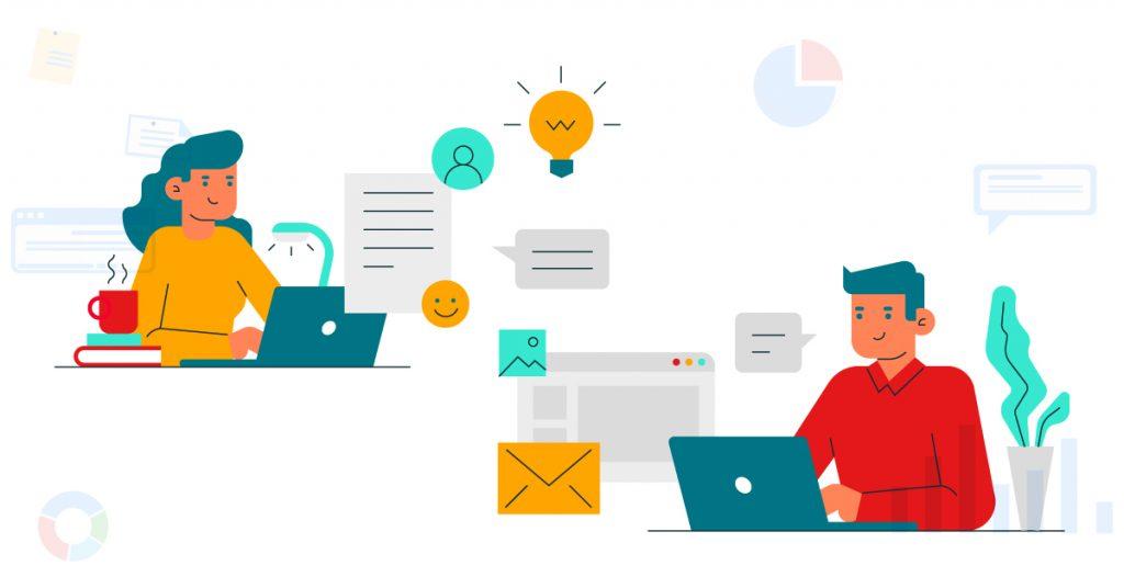 Virtual teams communicating