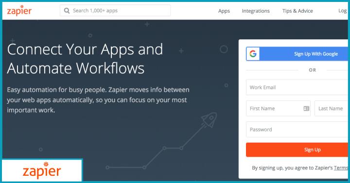 Zapier- work smarter, not harder