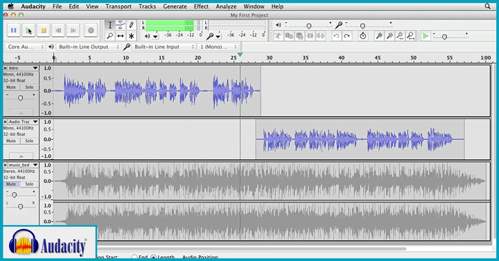 audacity podcast software free