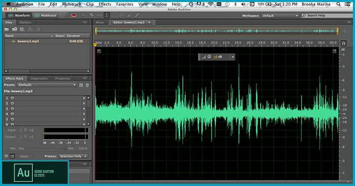 Adobe Audition audio editing software