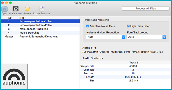 Auphonic multitrack Podcast Recording Apps
