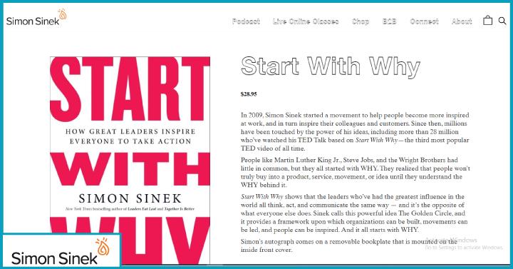 Start with Why, Simon Sinek