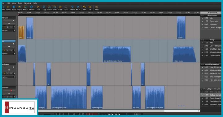 Hindenburg Journalist audio editor