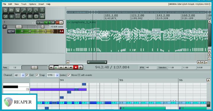 Reaper digital audio workstation