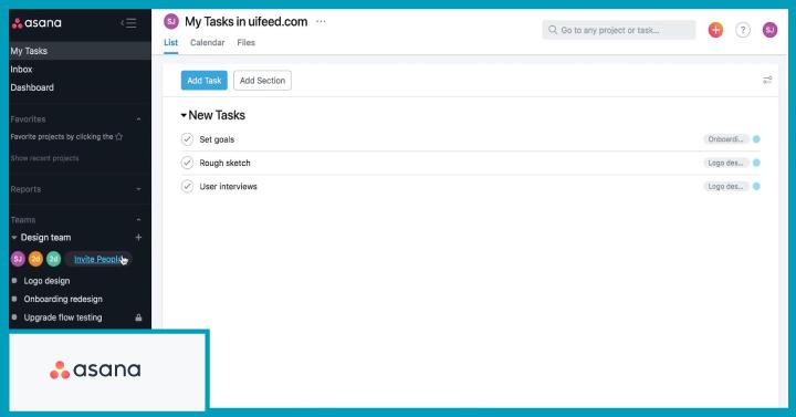 Asana - Best for task management