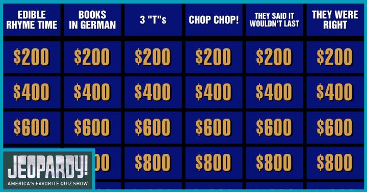 Jeopardy Online