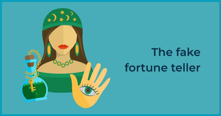 The fake fortune teller