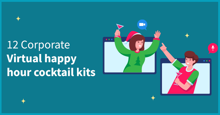 12 Corporate virtual happy hour cocktail kits
