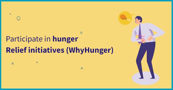 Participate in hunger-relief initiatives