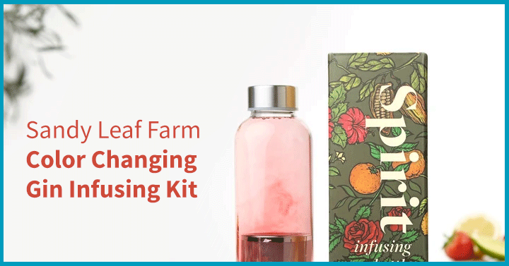 Sandy Leaf Farm Color Changing Gin Infusing Kit
