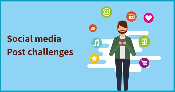 Social media post challenges