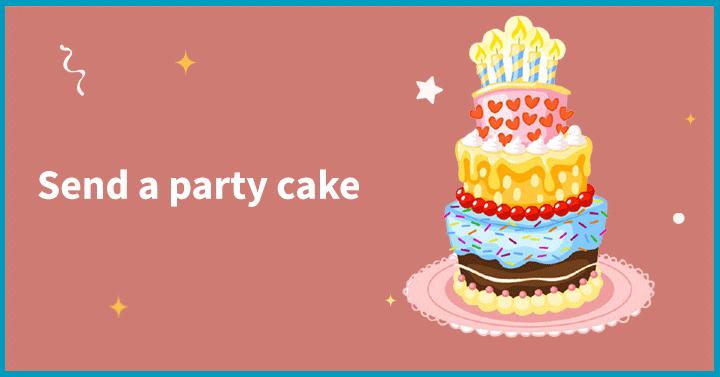 Send a party cake