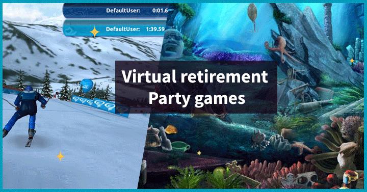 Virtual retirement party games