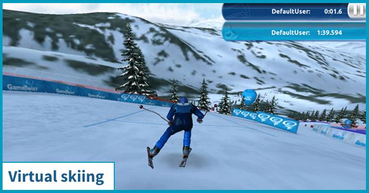 Virtual skiing