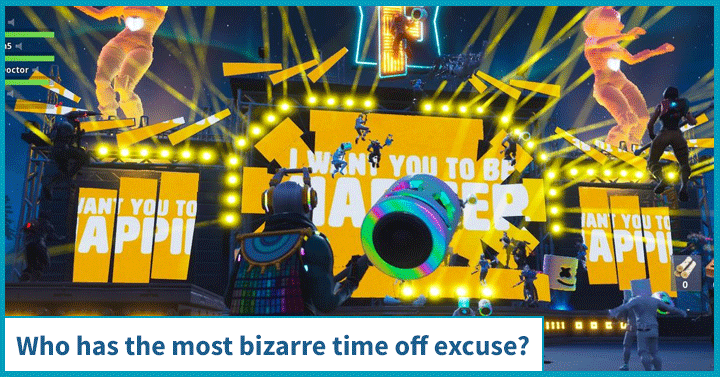 Who has the most bizarre time off excuse