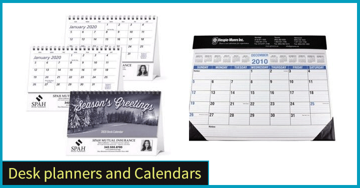 Desk planners and Calendars