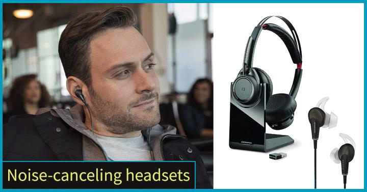 Noise-canceling headsets