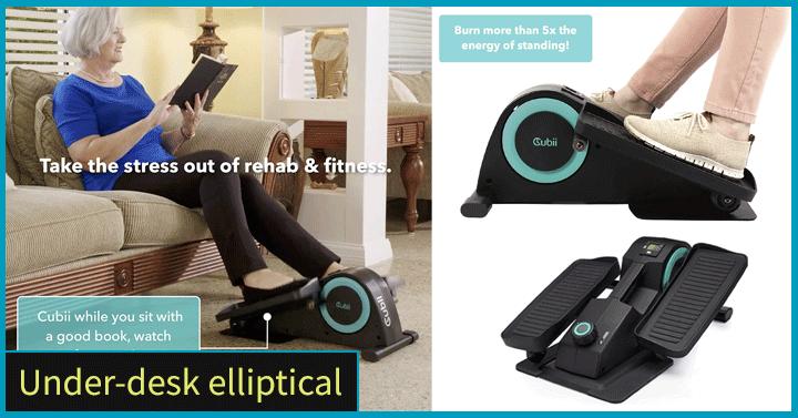 Under-desk elliptical