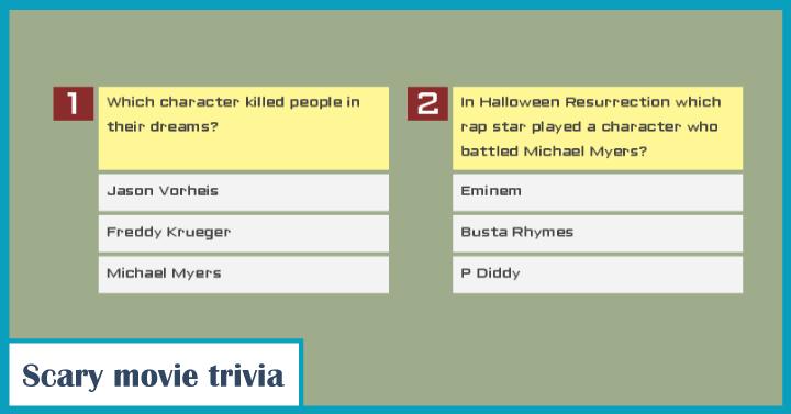 Scary movie trivia